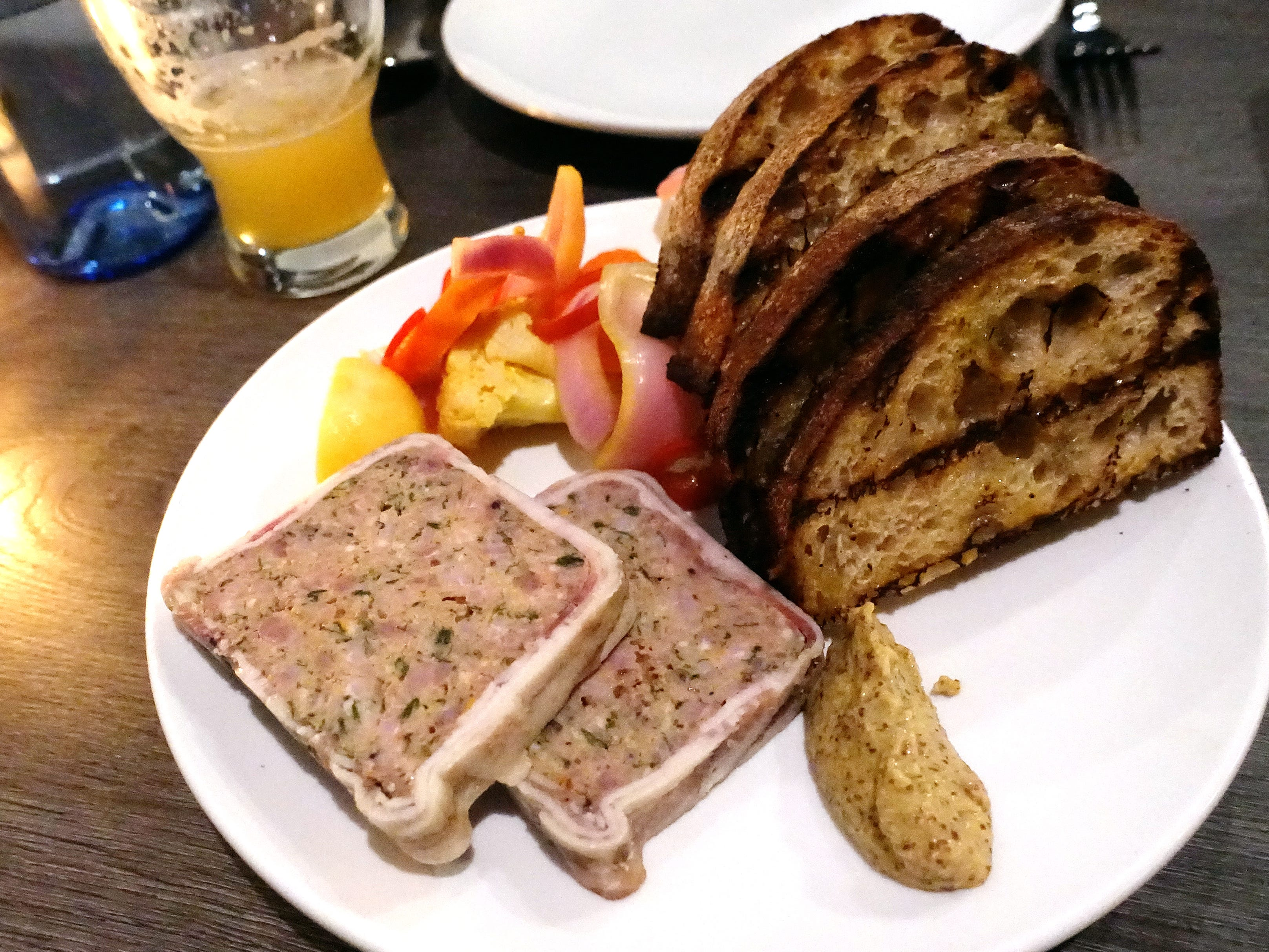 Butcher's country pate with house pickles and beer mustard at Hush Public House in Scottsdale.