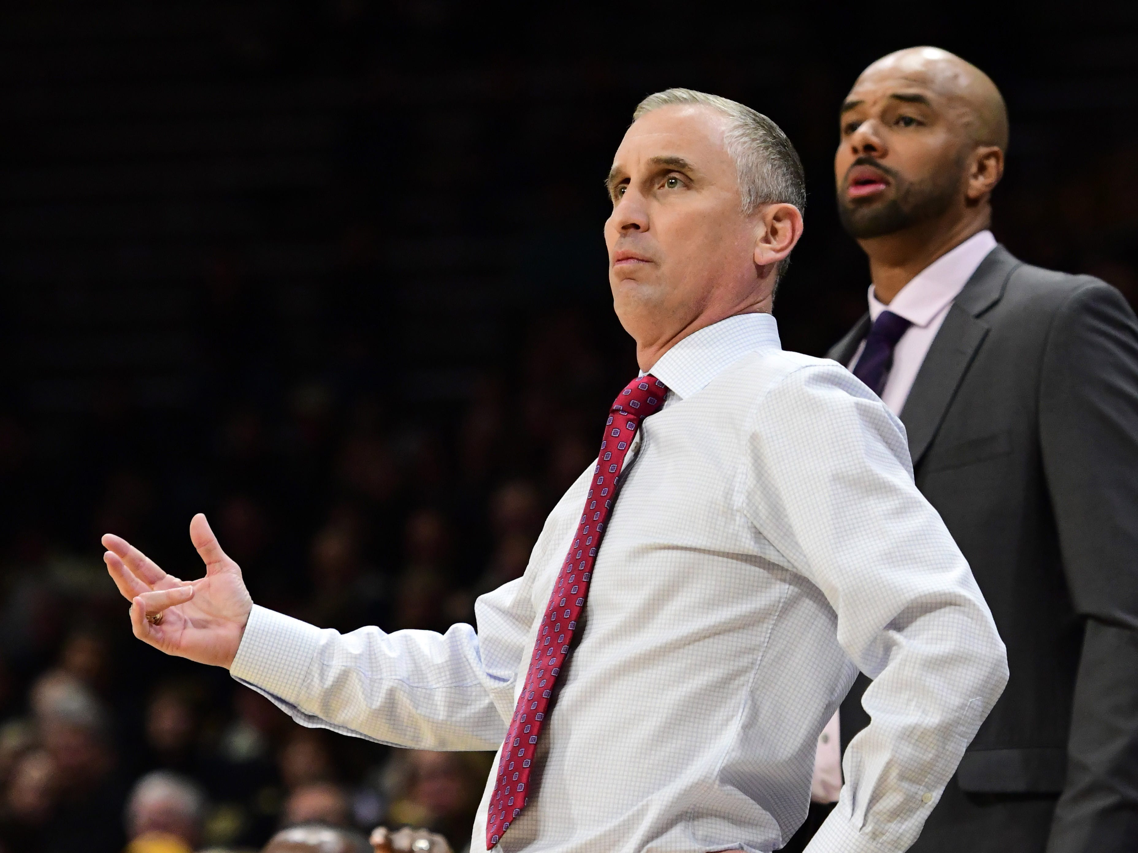 Feb 13, 2019; Boulder, CO, USA; Arizona State Sun Devils head coach Bobby Hurley during the first half against the Colorado Buffaloes at the CU Events Center. Mandatory Credit: Ron Chenoy-USA TODAY Sports