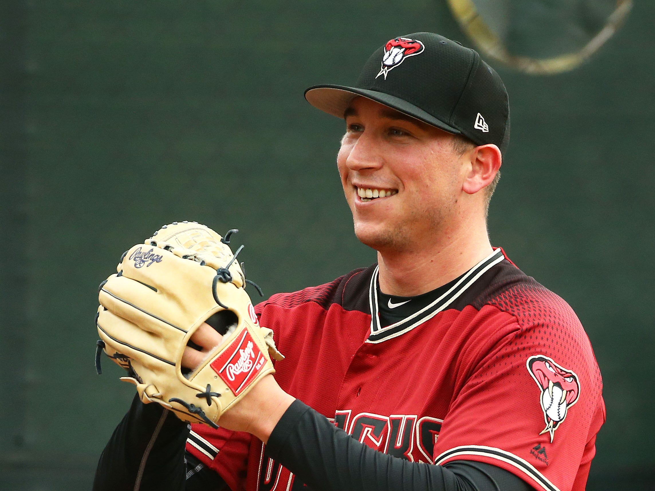 Arizona Diamondbacks pitcher Taylor Widener during the first day of spring training workouts on Feb. 13 at Salt River Fields in Scottsdale.