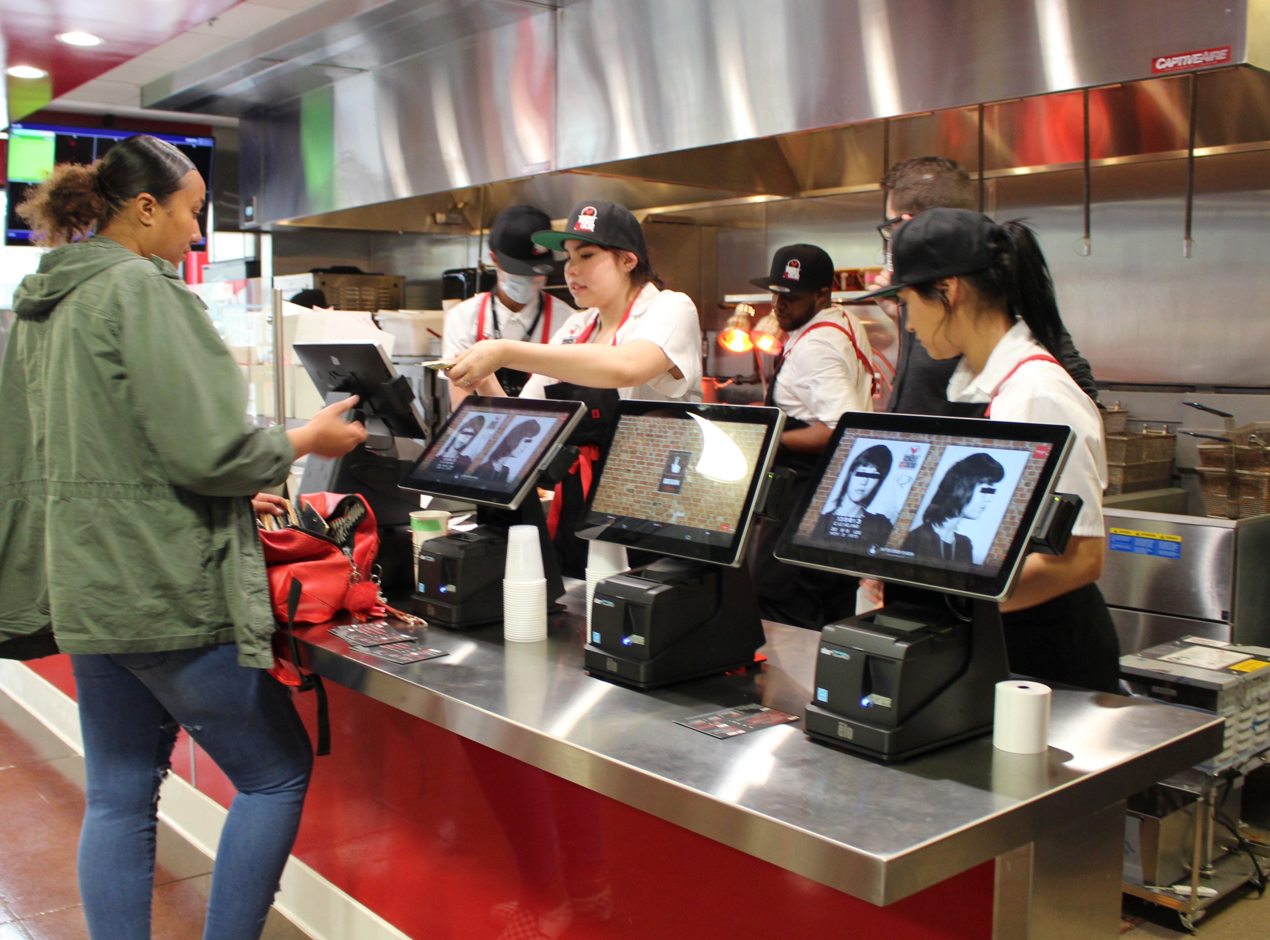 Monroe's Hot Chicken in downtown Phoenix uses a self-service point of sale system so customers can place their order without assistance from staff.
