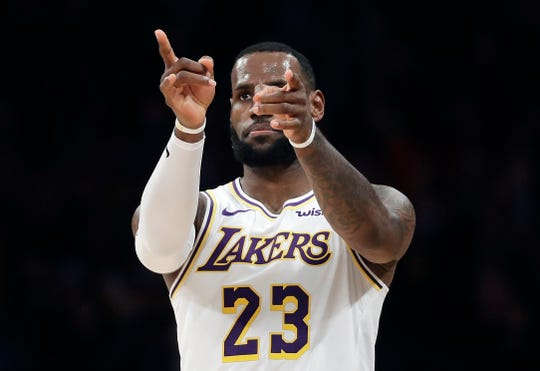 Los Angeles Lakers' LeBron James (23) is a 15-time all-star.