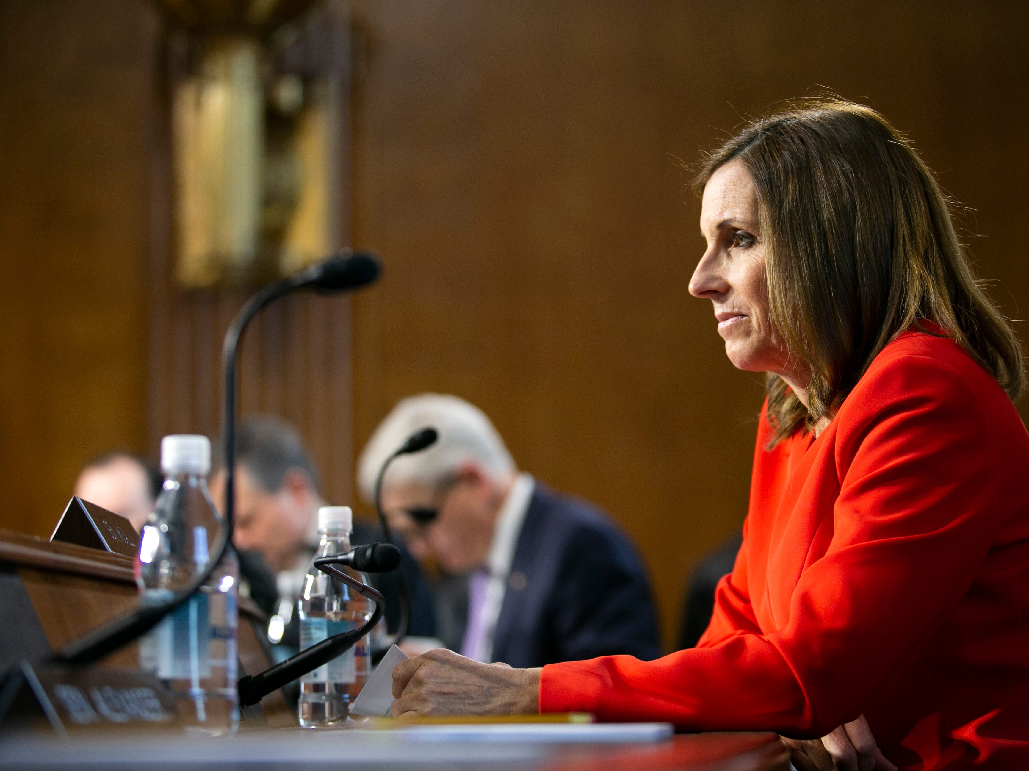 U.S. Senator Martha McSally listens during the U.S. Senate Committee on Energy and Natural Resources hearing at the U.S. Capitol in Washington D.C. on Feb. 5, 2019.