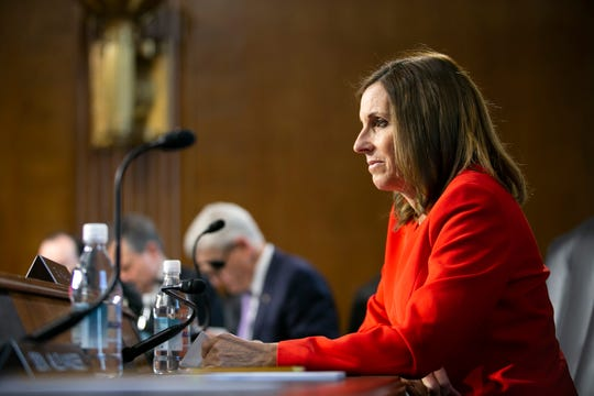 U.S. Sen. Martha McSally listens during the U.S. Senate Committee on Energy and Natural Resources hearing at the U.S. Capitol in Washington D.C. on Feb. 5, 2019.