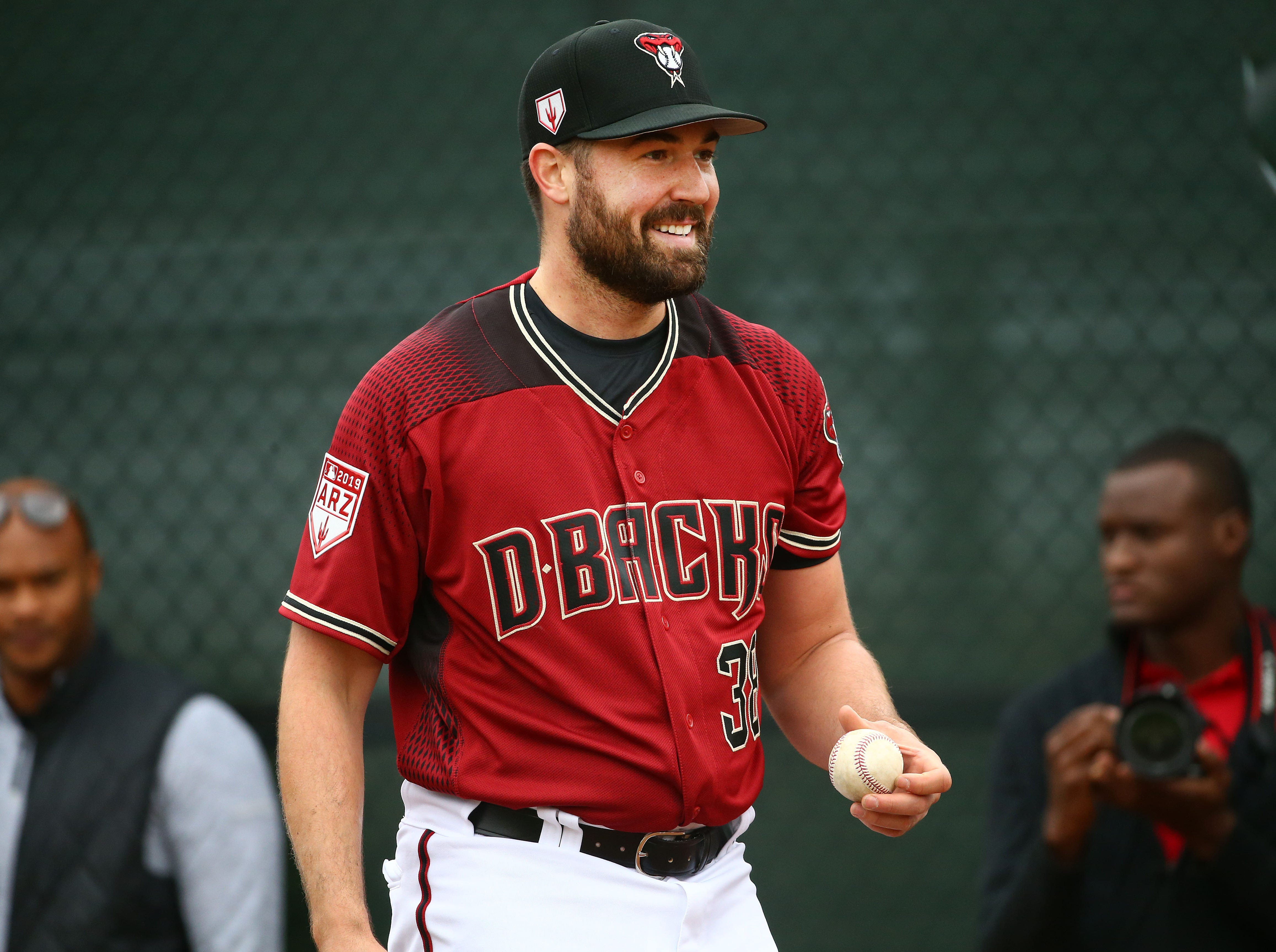 Arizona Diamondbacks pitcher Robbie Ray during the first day of spring training workouts on Feb. 13 at Salt River Fields in Scottsdale.