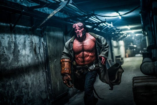 """David Harbour takes over for Ron Perlman in the 2019 reboot of """"Hellboy"""""""