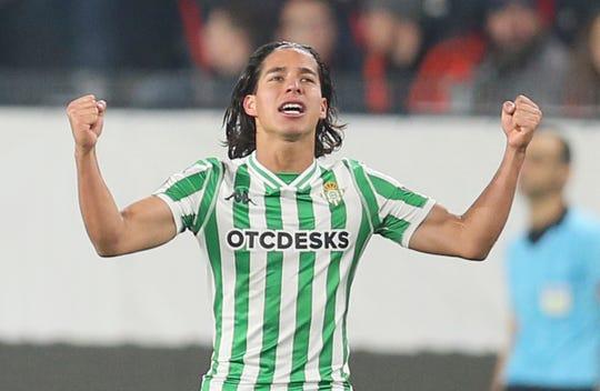 Diego Lainez, jugador mexicano del Real Betis.