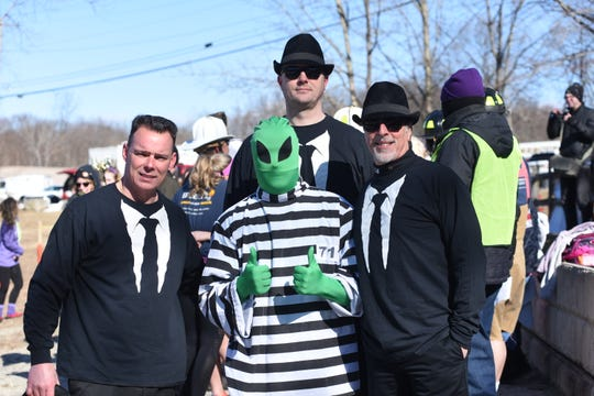 Lloyd Police Contingent members Chief Daniel Waage, left to right, Lt. James Janso, Sgt. Phillip Roloson and Tony Marmo are shown before the Alzheimer's Association Hudson Valley Chapter's ninth annual Subzero Heroes ice jump Feb. 9.