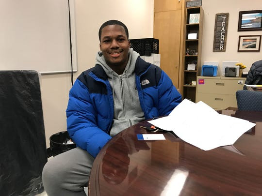 Jaaquan Forrest at Poughkeepsie district offices on Jan. 16, 2019.