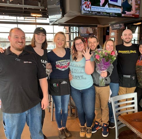 Couples get engaged at central Pa. Primanti Bros. for all-expense paid wedding promotion