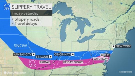 Two shots of light snow are in the forecast for President's Day weekend, meteorologists say.