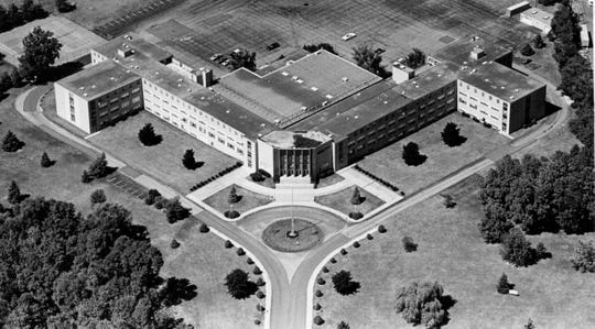 Cardinal Mooney High School, shown in August 1985, was started by the Brothers of the Holy Cross and the Sisters of Mercy.