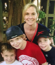 Erin Humphrey with her sons, from left, Braden, Blake and Conor.