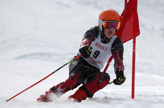 Spin Blazak, Canandaigua, at boys Alpine Section V Championships at Swain.