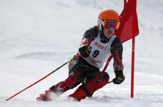 Spin Blazak, Canandaigua, at boys Alpine Section V Championships at Swain.
