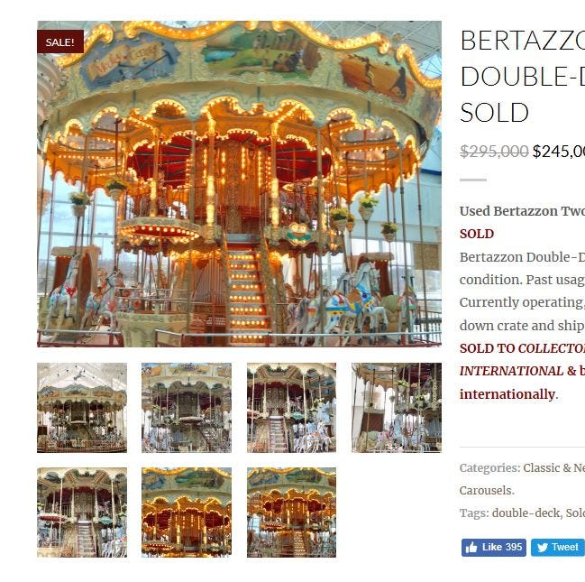 UPDATE: Former Medley carousel going to China