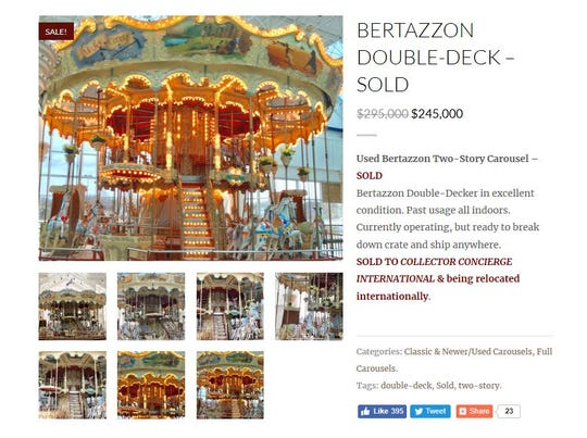 Looks like the carousel in the old Medley Centre has found a buyer.
