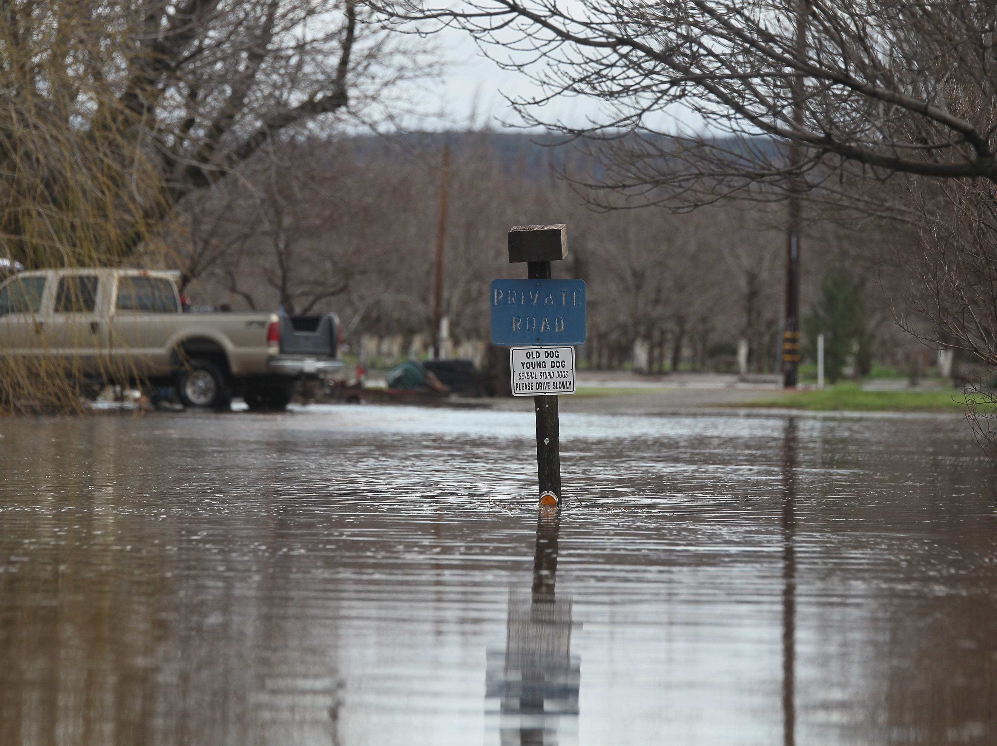 Hwy. 99 was closed in Dairyville on Thursday morning due to the flooding.