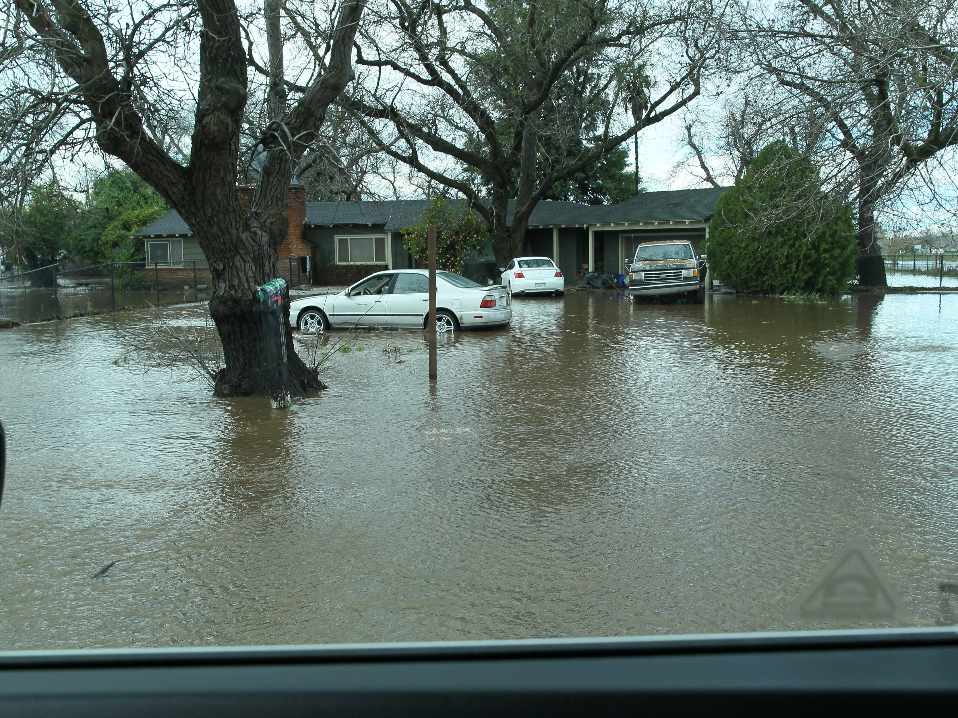 Flooded along Hwy. 99 east of Red Bluff.