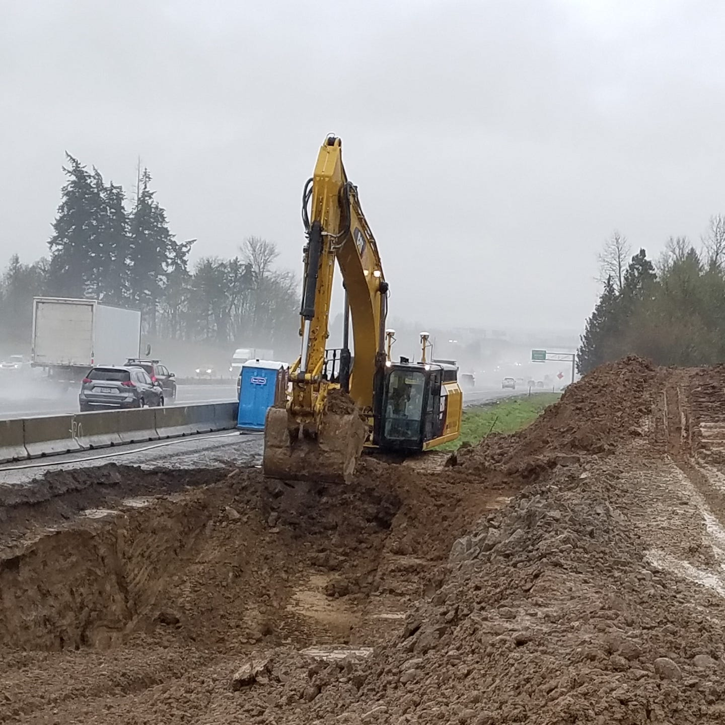 Contaminated soil hauled from tanker crash site on I-5 near Keizer