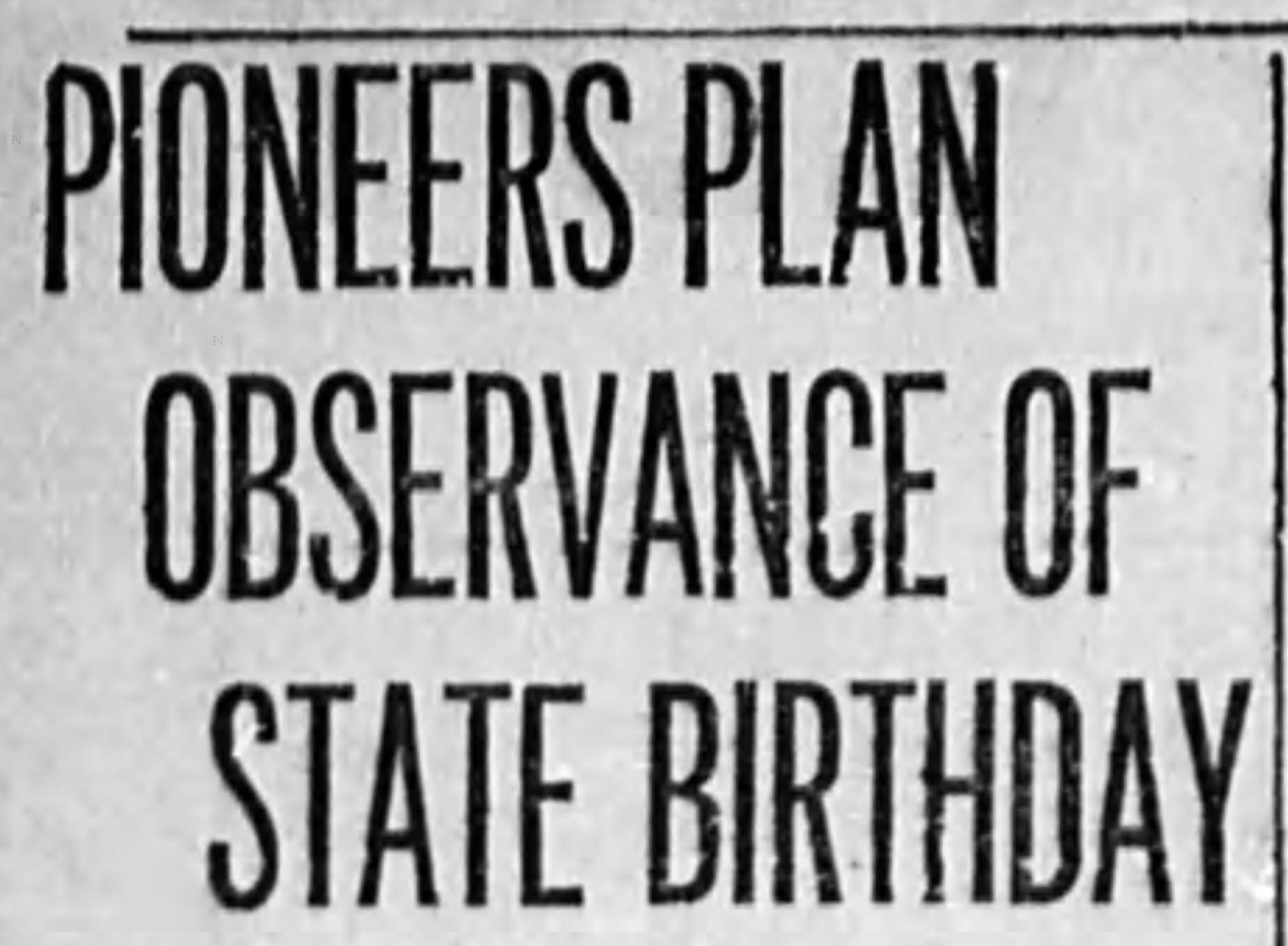 The Capital Journal announces birthday celebration plans for Oregon in its Feb. 4, 1924 edition.
