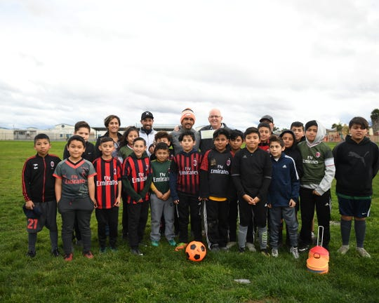 The AC Milan soccer club's lighting equipment may have been stolen last week, but with the Salinas community's help, they're back on track.