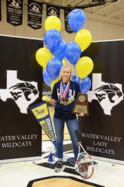 Water Valley High School's Brittany Sutton will play tennis next year for Howard Payne University.