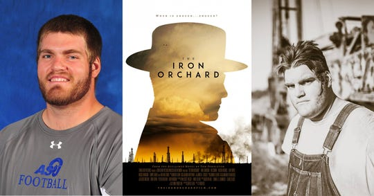 "Angelo State student Nolan Osmanski featured in new movie, ""Iron Orchard"" on Feb. 22, 2019."