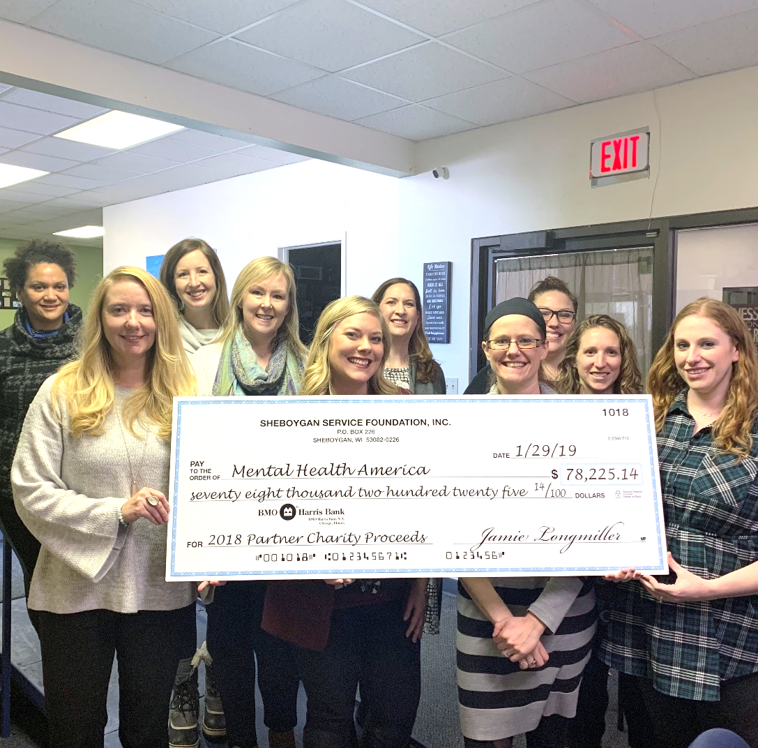 Sheboygan Service Club donates $78,000 to Mental Health America of Sheboygan | Briefs