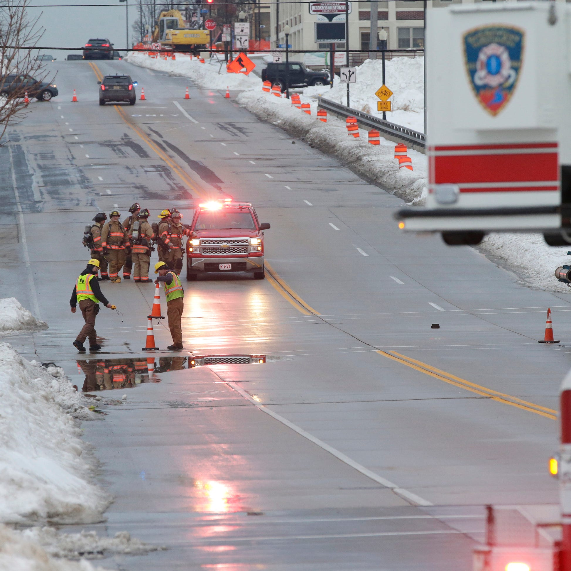 Sheboygan Fire Department responds to Thursday night leak which left some 300 without gas