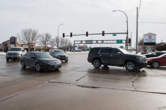 57th Street and Louise Avenue intersection is shown, Thursday, Feb. 14, 2019 in Sioux Falls, S.D.