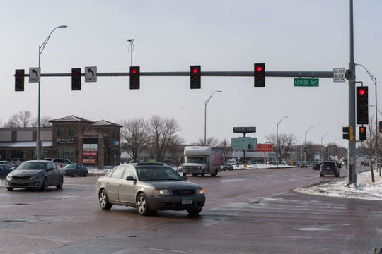 41st Street and Louise Avenue intersection is shown, Thursday, Feb. 14, 2019 in Sioux Falls, S.D.