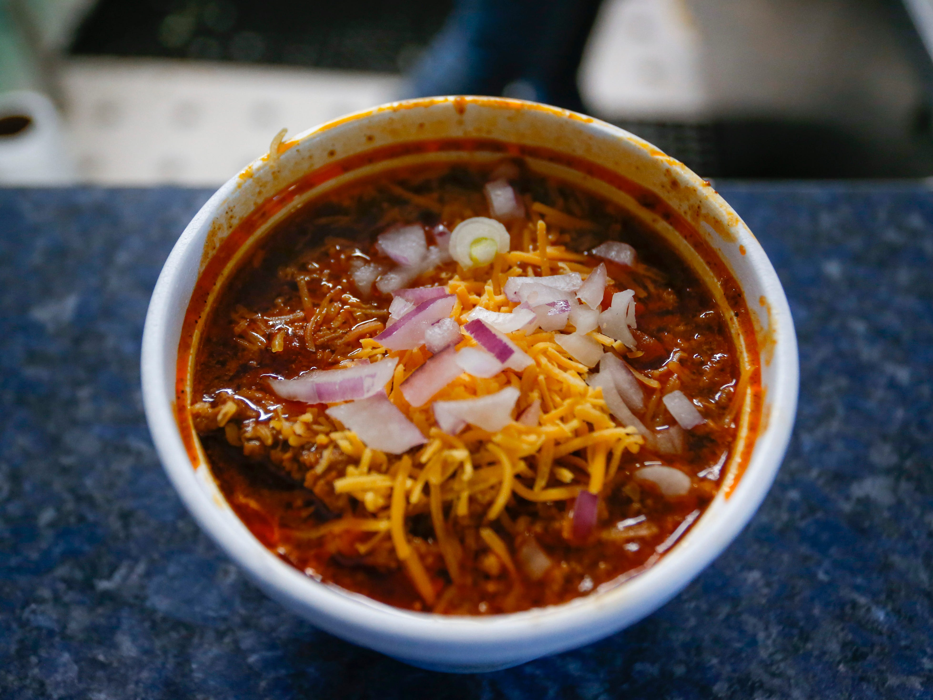 A cup of chili at Bigfoot Subs at 2204 W. College St.