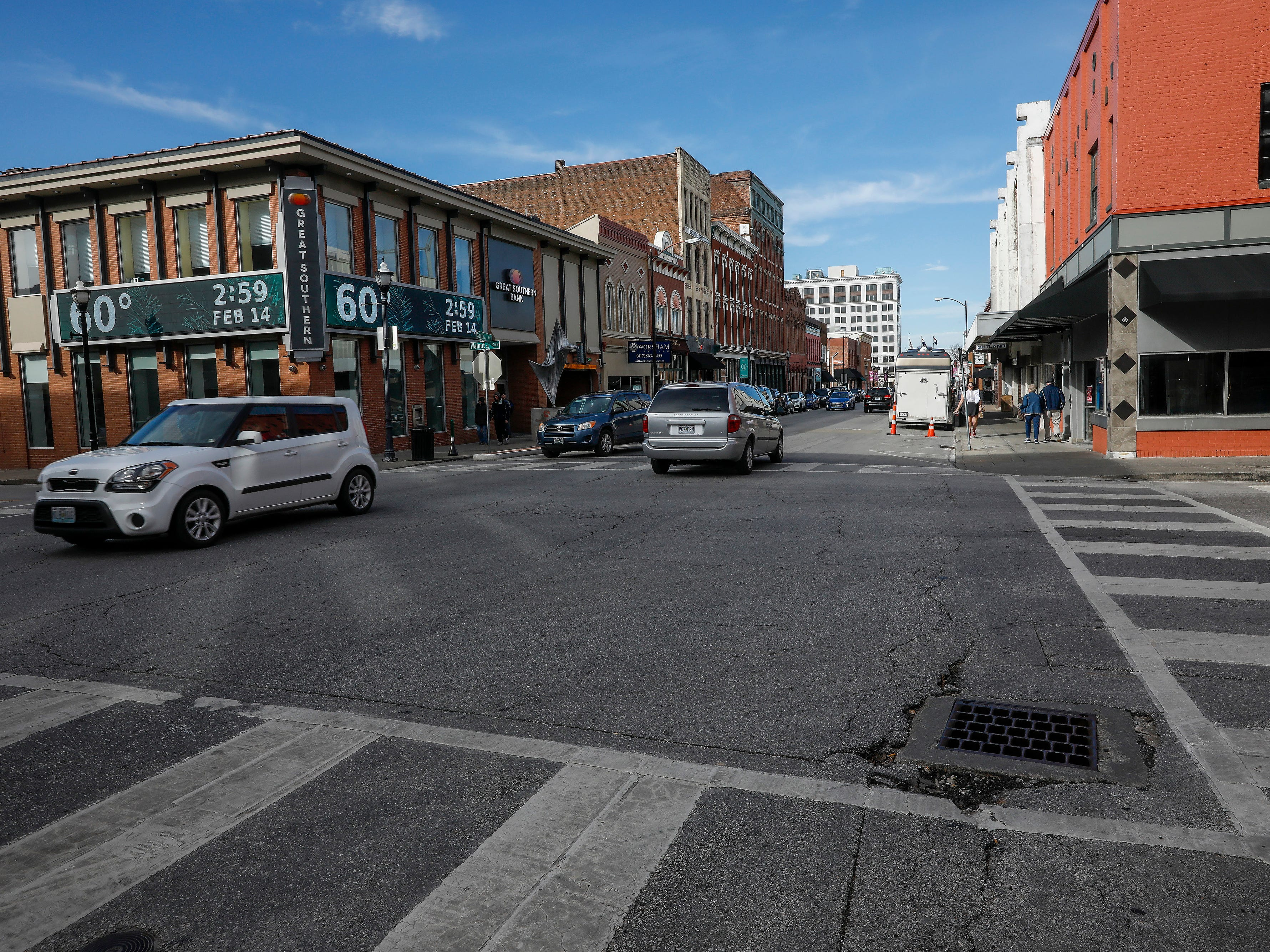 A look north down South Avenue downtown on Thursday, Feb. 14, 2019. Temperatures were in the low 60s on Thursday.