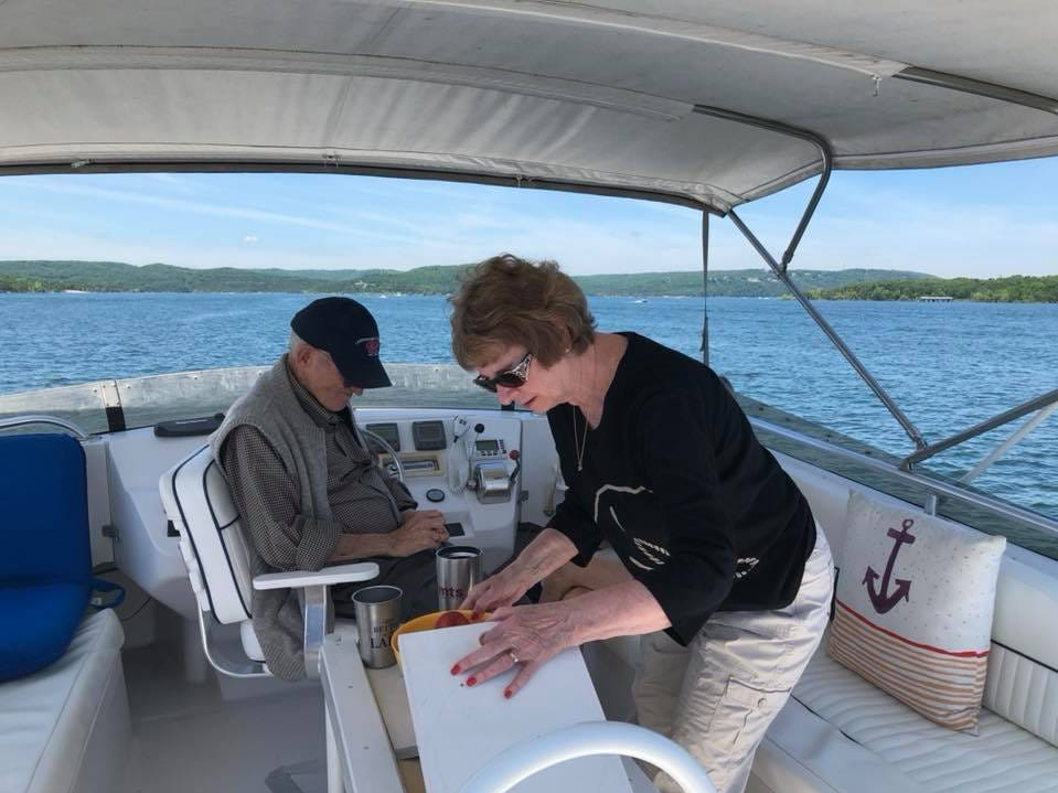 Kit and Marty Carson on Table Rock Lake