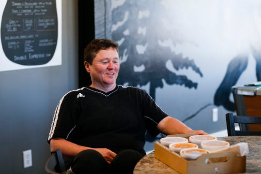 Army veteran Dannie Wright talks about her restaurant Bigfoot Subs, which she opened in January at 2204 W. College St.