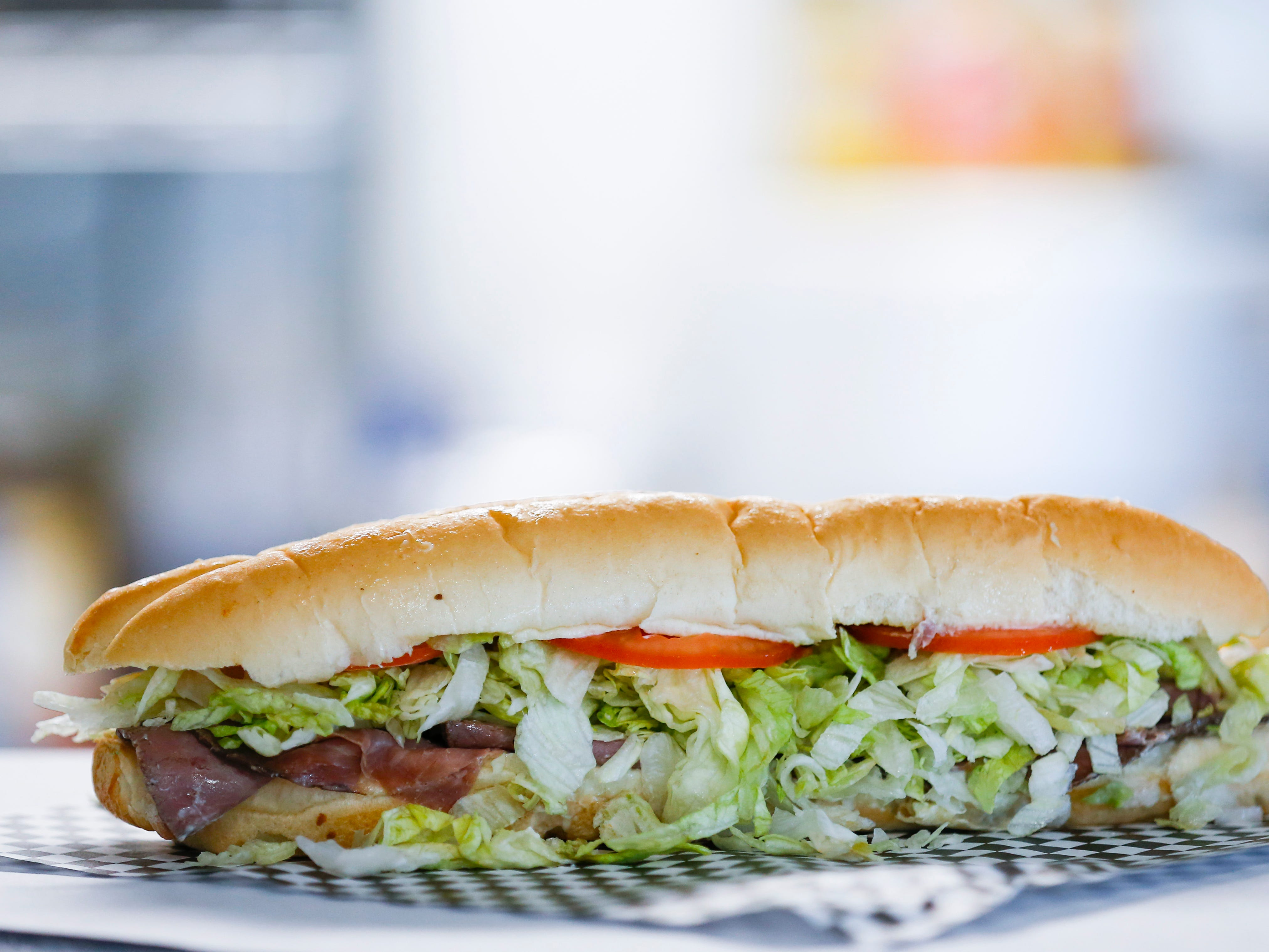 The roast beef and Swiss sub at Bigfoot Subs at 2204 W. College St.