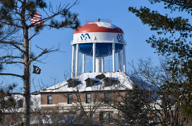 The St. Cloud VA Health Care System main building is pictured Thursday, Feb. 14, in St. Cloud.  The facility received high marks in a recent review by USA TODAY of VA facilities.