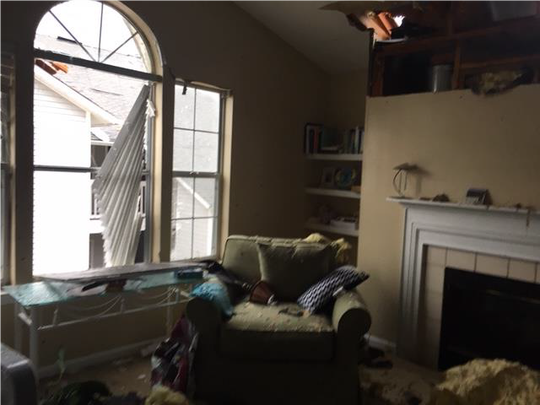 Johanna Rucker's Panama City apartment after Hurricane Michael.
