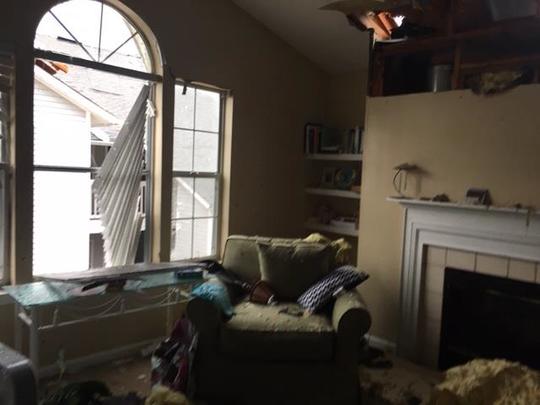 Johanna Rucker's Panama City apartment after Hurricane Michael.