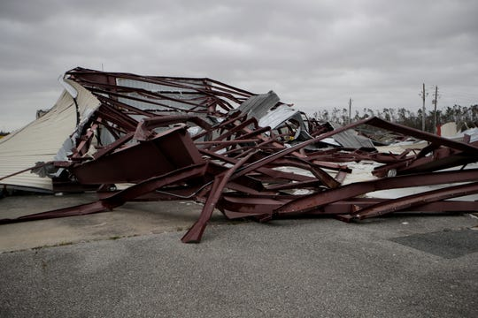Buildings at the Calhoun County Airport were nearly wiped away by Hurricane Michael in October.