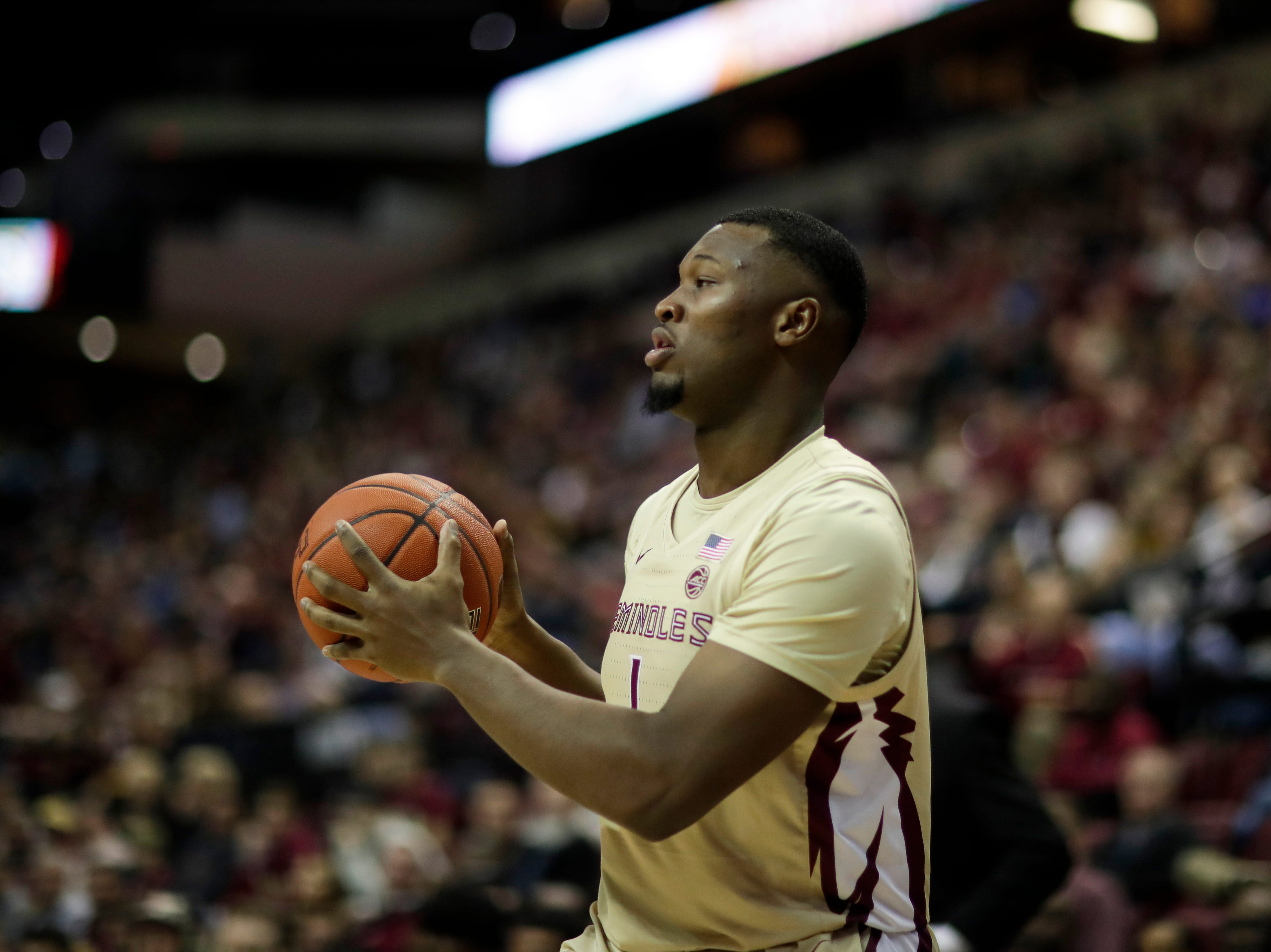 during a game between FSU and Wake Forest at the Donald L. Tucker Civic Center Wednesday, Feb. 13, 2019.