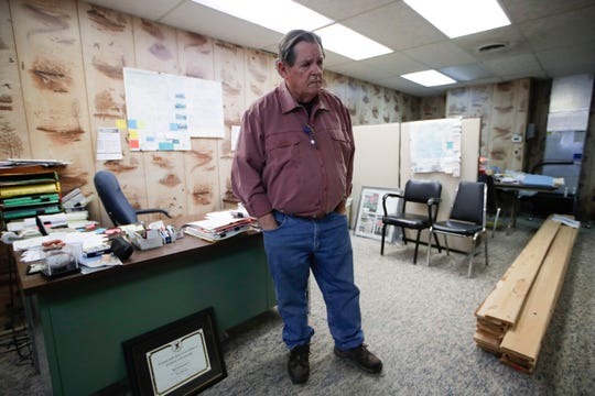 Bill Stoutamire, owner of Stoutamire Insurance in Blountstown, has been handling insurance claims from Hurricane Michael since the storm hit the area in October. His own building was damaged by the hurricane and needs repairs.