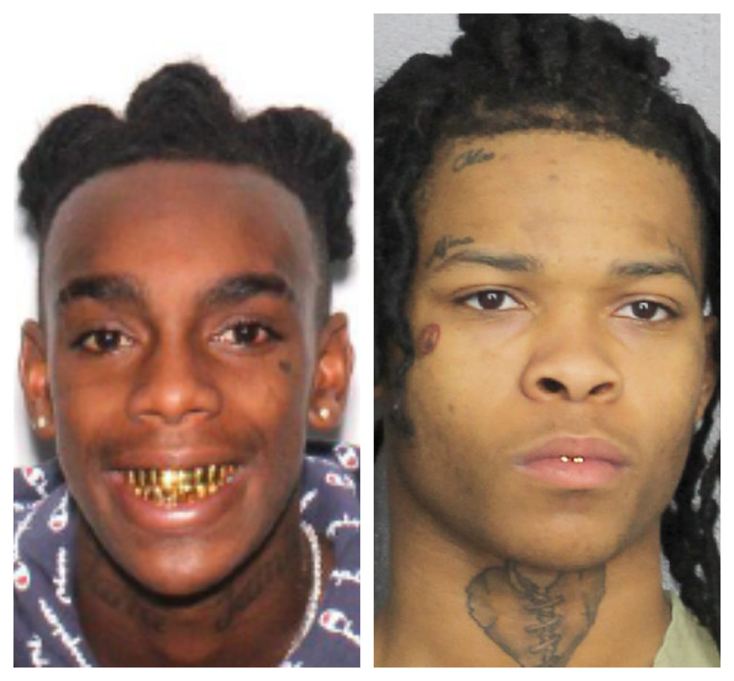 Jamell Demons, left, aka YNW Melly, and Cortlen Henry, aka YNW Bortlen.