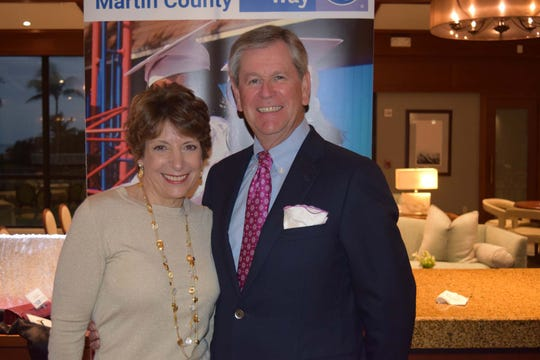Karen and Richard Dakers, Tocqueville Society chair, at the United Way of Martin County Tocqueville Society reception at Sailfish Point.
