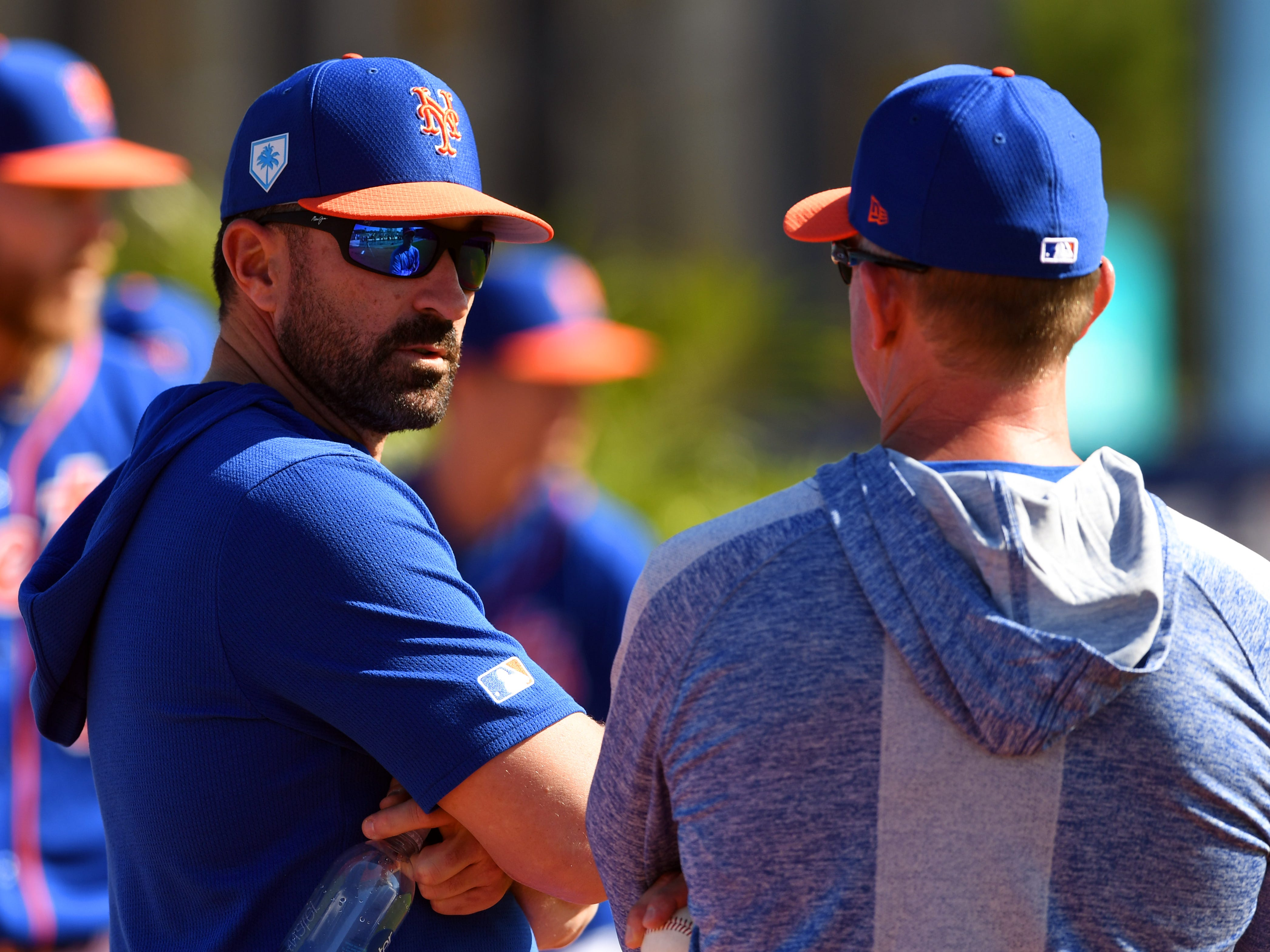 Spring training workouts continued for the New York Mets on Thursday, Feb. 14, 2019 as pitchers and catchers reported to First Data Field in Port St. Lucie. A full-squad workout is slated for Feb. 18 followed by the Mets' first spring training game against the Atlanta Braves on Feb. 23.