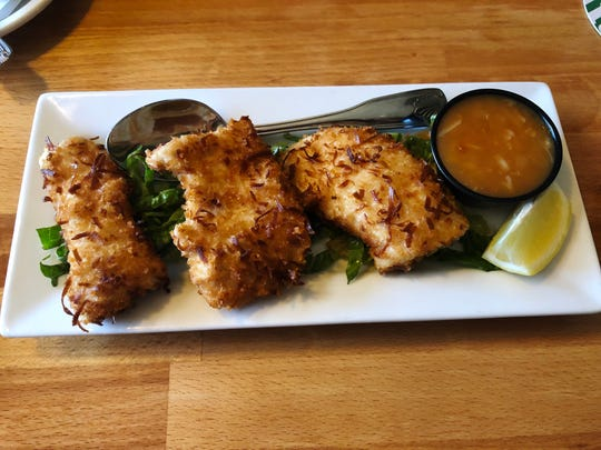 The Cottage Grill coconut mahi appetizer was delicious with mandarin ginger sauce.
