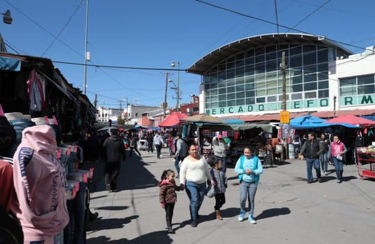 Mercado Reforma is bustling with activity on a Tuesday afternoon in Juarez, a far cry from how it looked in the depths of cartel and civilian killings.