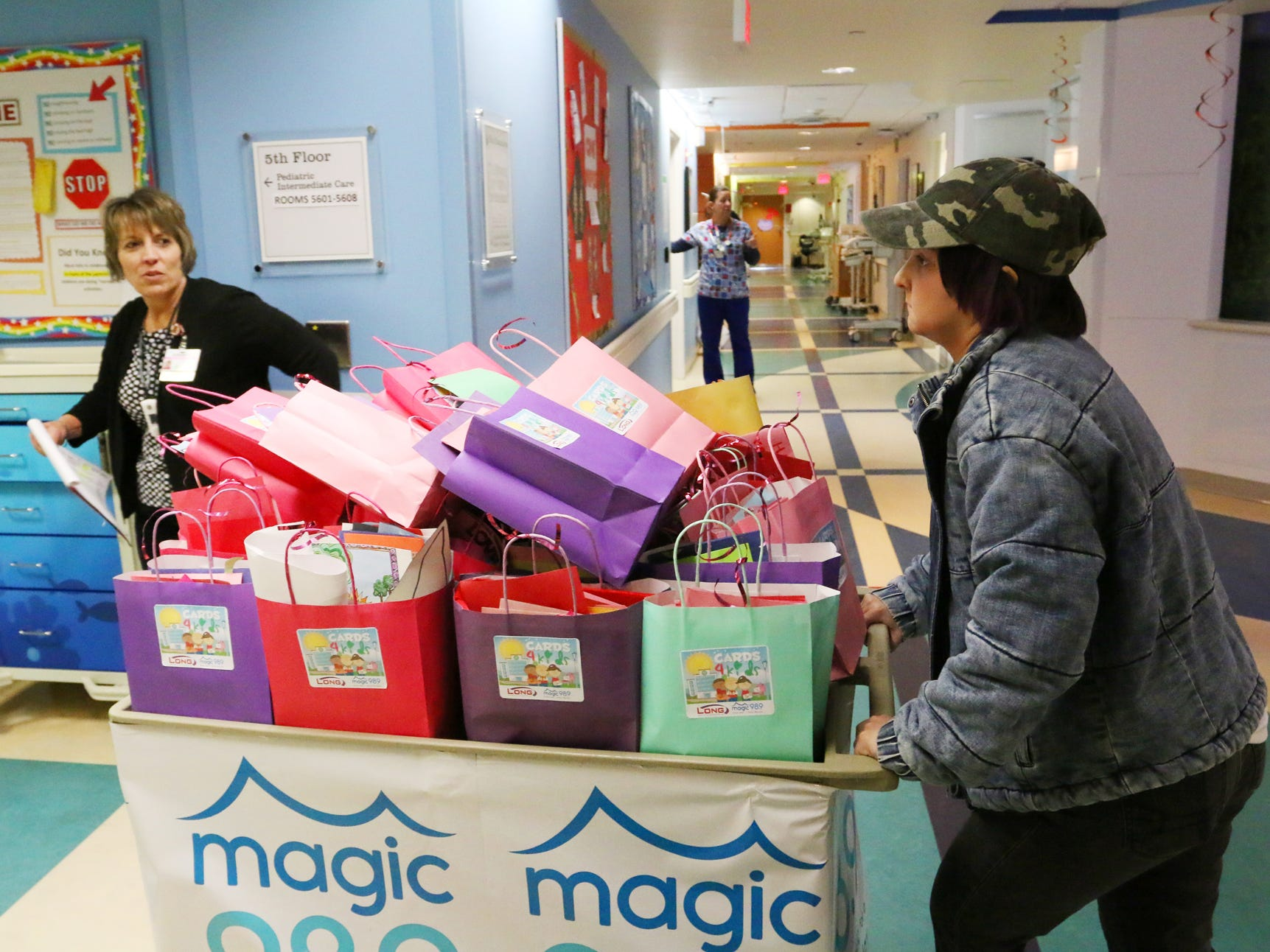Bags of Valentine's Day cards and gifts were delivered to children at the Prisma Health Children's Hospital on Thursday morning, February 14, 2019.