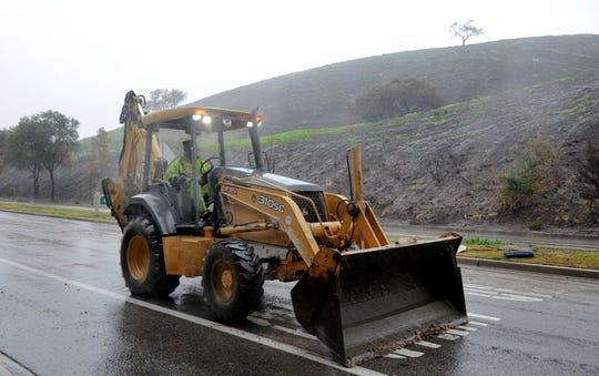 Roadwork in Ventura County.