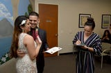 Couples find convenience on the road to marriage at the county recorder's office on Thursday, Valentine's Day.